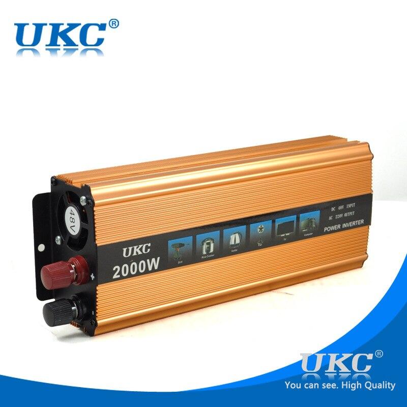 ФОТО UKC 2KW 2000W DC 48V to AC 220V Car Vehicle USB Power Inverter Adapter Converter