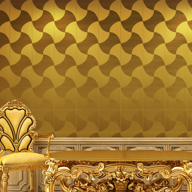 Gold Foil Wallpaper Modern Minimalist Ceiling Living Room Stereo Ktv Art Star