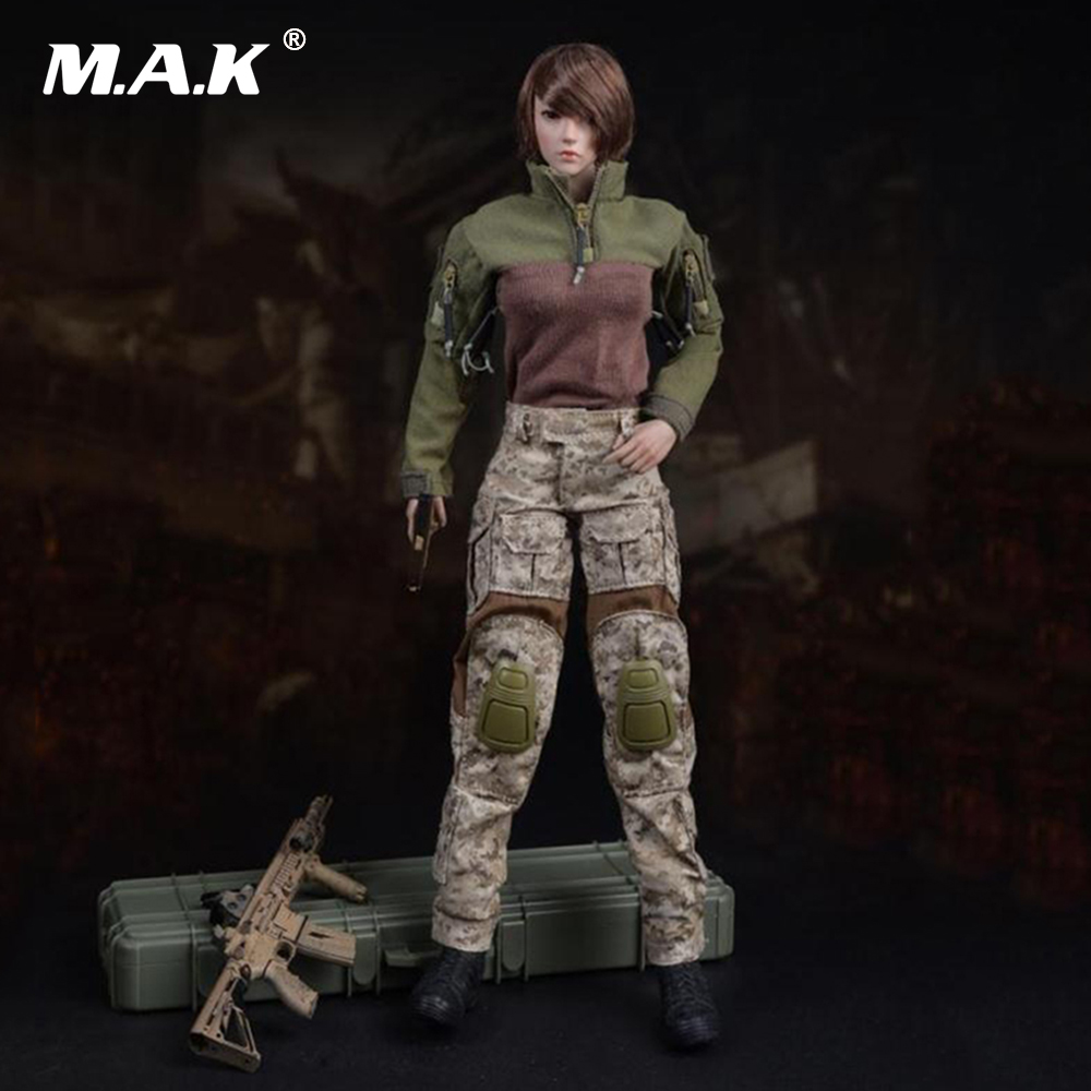 1:6 Scale Female Action Figure Accessories US Navy Seals Combat Camouflage Suit Clothes For 12'' Seamless Model Toys Doll