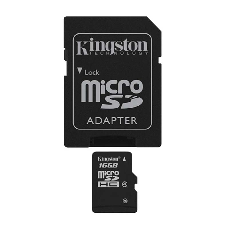 Image 2 - Kingston Technology Canvas Select 16GB microSDHC Class 4 Memory Card with Adapter 16 GB micro sd card 4MB/s data read speeds-in Memory Cards from Computer & Office