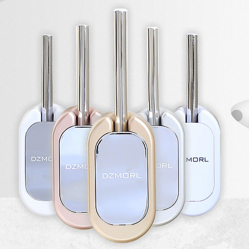 Nail-Free Wall-Mounted Household Toilet Brush Set Upscale Hotel Bathroom Accessories Stainless Steel Toilet Brush Home Decoratio