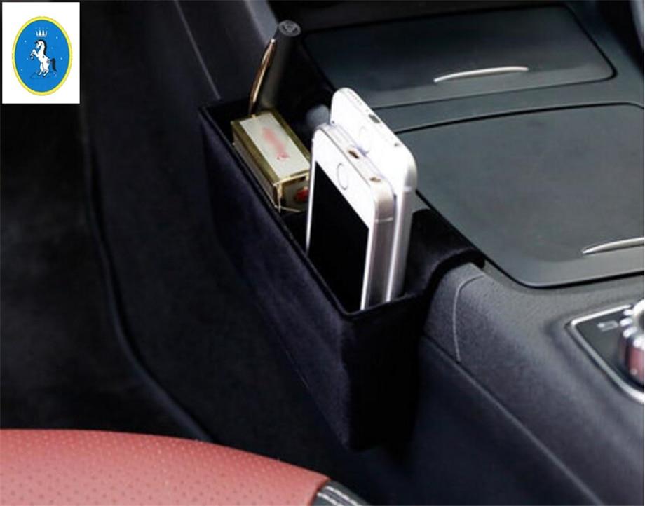 Yimaautotrims accessoire Auto boîte de rangement de conteneur Central Kit d'accessoires de plateau de téléphone pour Mercedes Benz GLA 200 220X156 2018