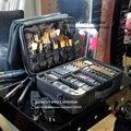Nuevo 2016 de la Alta Calidad Profesional de Maquillaje Vacío Organizador Del Caso Cosmético de Viaje Bolsa de Almacenamiento de Gran Capacidad Bolso Mujer Maletas