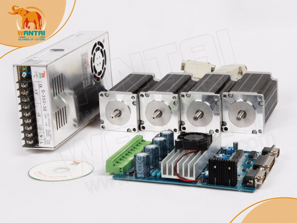 Powerful CNC! 4 Axis Nema 23 Stepper Motor 57BYGH603B Dual Shaft290oz-in+4 Axis Driver Board TB6560 CNC Cut Mill Laser Engraving wantai new sale cnc 3 axis nema 23 stepper motor 57bygh115 003 425oz in driver dq542ma 128mic 50v 4 2a engraving