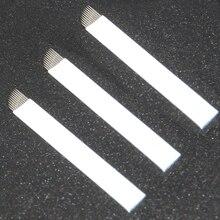 50PCS 11pin White Eyebrow Permanent Makeup Microblading Blades Tattoo Needles Permanent Makeup