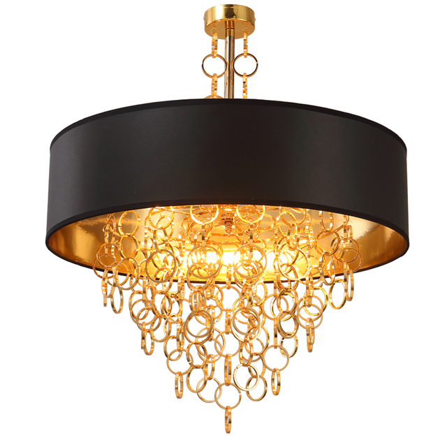Kung New arrival Modern Luxury creative Pendant light gold chain with lamp shade drop light home Restaurant Bar shop decoration