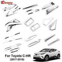 Для Toyota C-HR CHR хромированный передний задний противотуманный светильник, задний светильник, накладка на корпус, Формовочная полоса, украшение для автомобиля