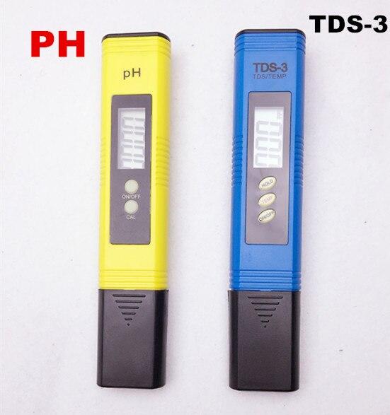 Portable Pen Digital TDS Meter Filter Measuring Pool  Water Quality Purity Tester PH 0.01 + TDS meter Titanium alloy probe  цены