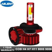 цена на Aslent Car Headlight H7 H4 LED H8/H11 9005 9006 80W 8000lm Auto Bulb Headlamp 6000K Light High Low Beam Cold White DC 12v 24v