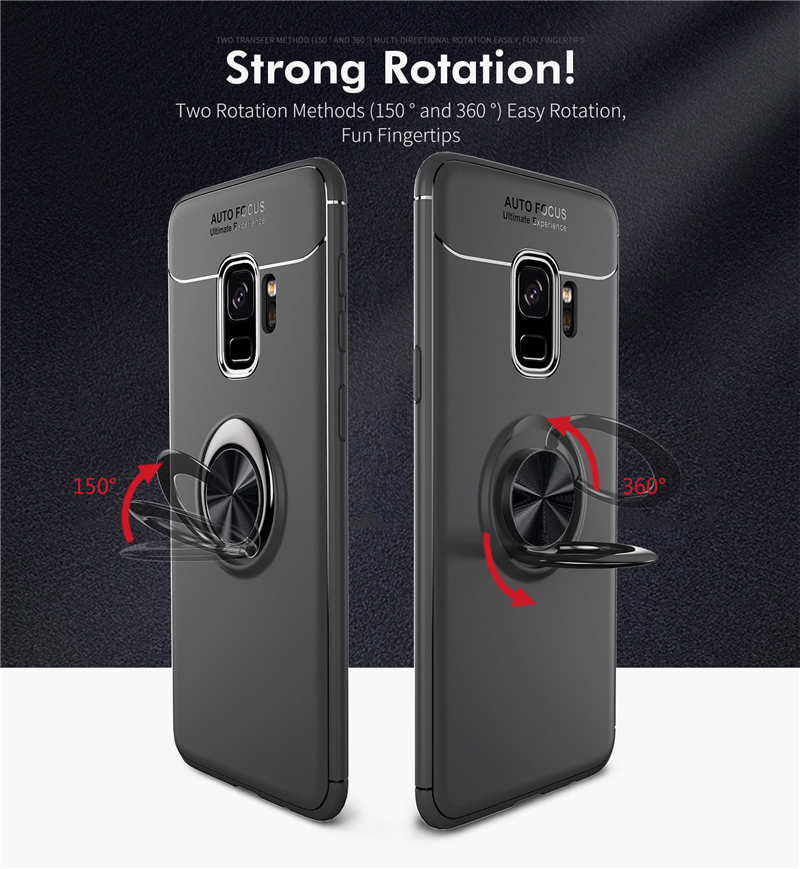 Car Holder Stand Magnetic Bracket Finger Ring TPU Case For SAMSUNG Galaxy S9 S8 Plus Note 8 J330 J530 J730 J4 J6 J8 A6 Plus 2018 (10)