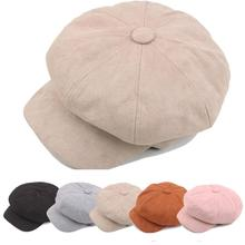 Women Beret Winter Hats For Women Octagonal Hat Men