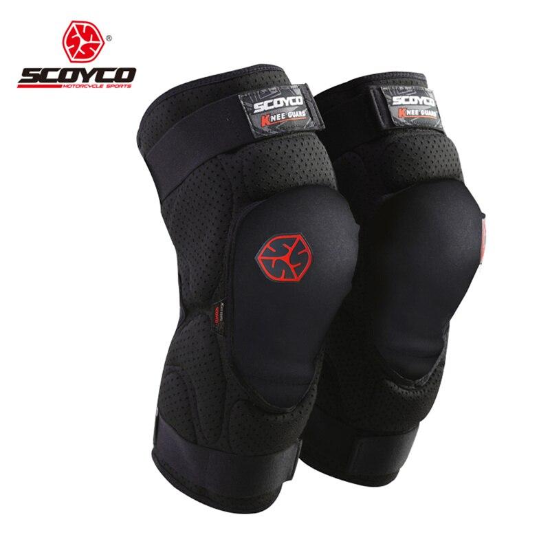 SCOYCO Moto Équitation Genou Protecteur Sports Extrêmes Genouillères Vélo Vélo Vélo Racing Tactal Skate Équipement De Protection