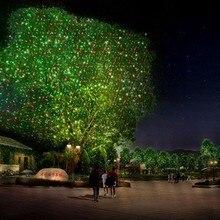 Navidad luces láser proyector de Jardín Al Aire Libre de Movimiento RG Estrella Impermeable IP65 RF Remoto Rojo Verde ducha Decoraciones para Navidad
