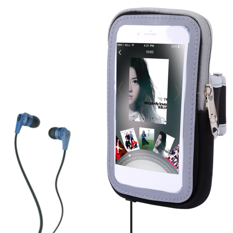 18*10cm Outdoor Cell Phone Touch Screen Arm Armband Bag Sports Mobile Phone Package Running Package Men And Women