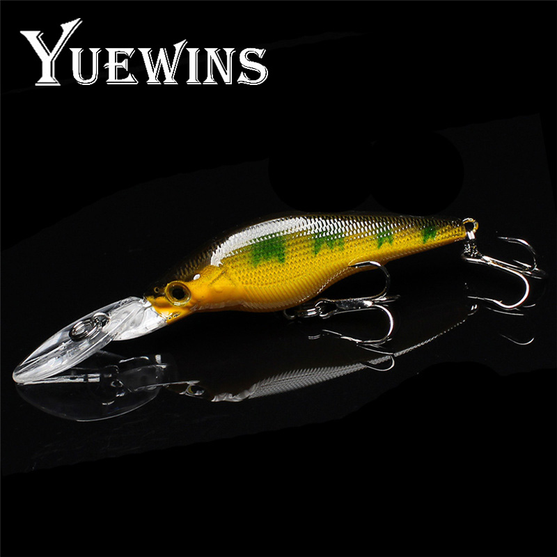 Yuewins Minnow Fishing Lure 9cm 6.3g Topwater Crankbait isca artificial Hard Bait Fishing Wobblers Pike Fake Lures QA220