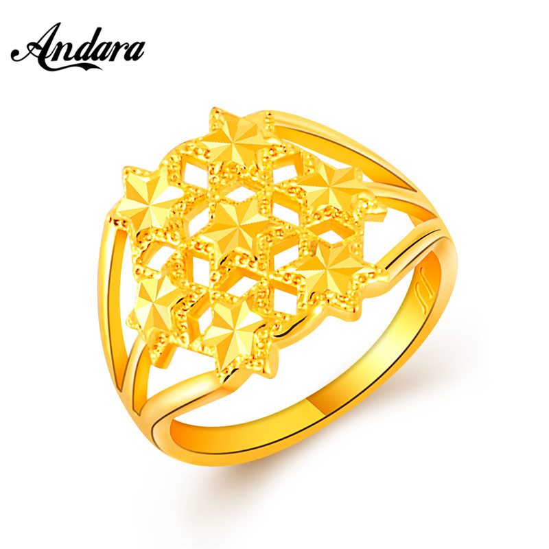 Brand Lady Gold Color Finger Ring For Women Anillos Trendy Yellow Gold Jewelry Wedding Party Gifts Bague JR106
