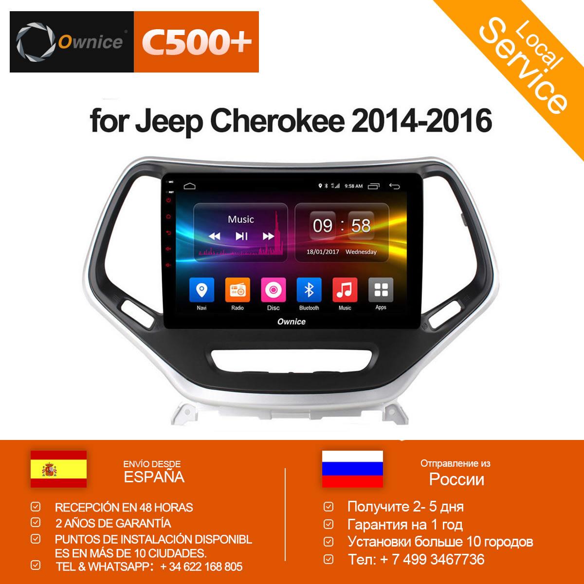 Ownice C500 + G10 10,2 дюймов Octa 8 ядра Android 8,1 автомобилей Радио для Jeep Cherokee 2014 2016 стерео аудио Автомобильная электроника