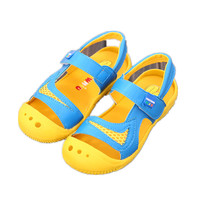 Children Summer Sandals For Boys Breathable Mesh Beach Sandals Toddler Girls Closed Toe Outdoor Slippers PU