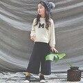 Otoño Estilo Coreano de Ropa Infantil Establece Niñas Mangas Llenas Ropa Jerseys + Pants Juegos de Los Cabritos Trajes Niño Adolescente