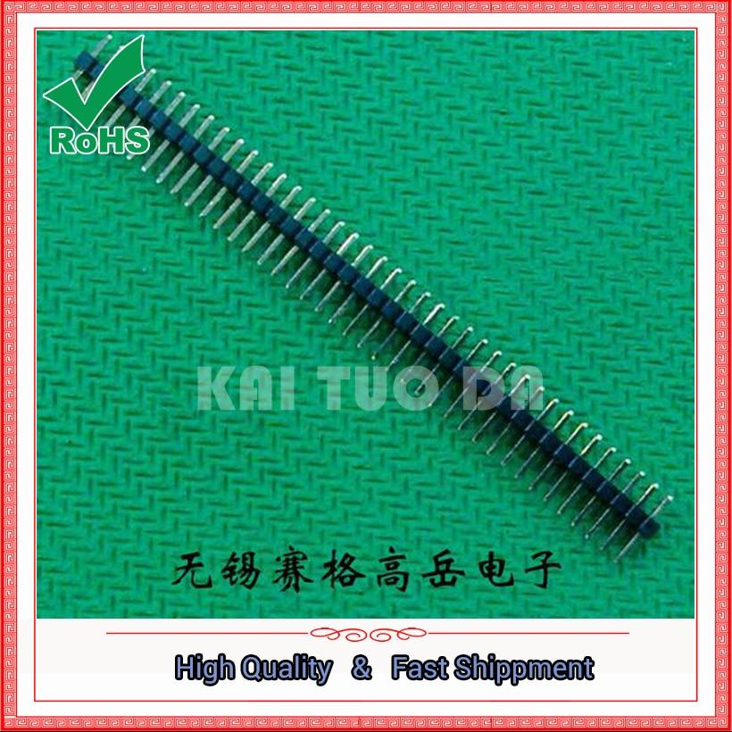 10PCS 1*40PIN 1.27MM Single Row Male Pin Header 1X40PIN 1.27MM 40 PIN Connector 40pin strip 40p