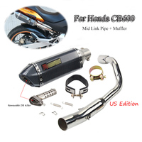 CB600F Hornet Motorcycle Exhaust System Silencer Pipe Exhaust Muffler Tail pipe Mid Link pipe Whole set For Honda Hornet CB600