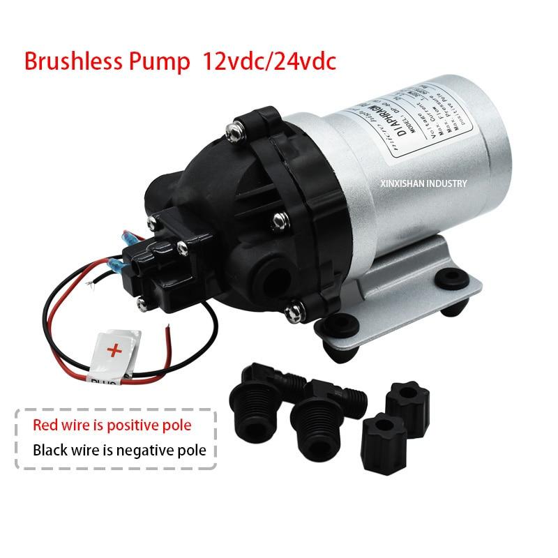 Brushless High Pressure Water Pump DP-60(BLDC) 12/24V DC 5L/min (1.3GPM) Self-priming Diaphragm Pump Auto-pressure Switch
