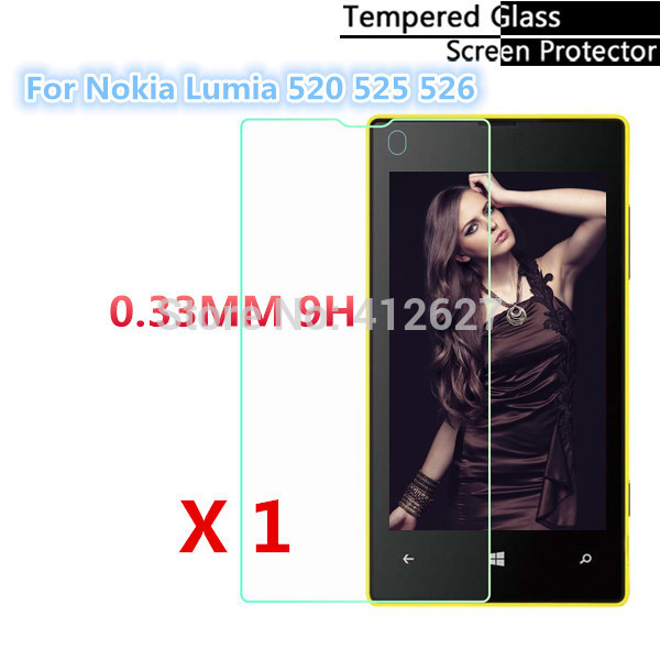 0.3mm Safety Protective Explosion-Proof Tempered Glass Screen Protector Film For Nokia Lumia 520 525 526 Guard pelicula de vidro