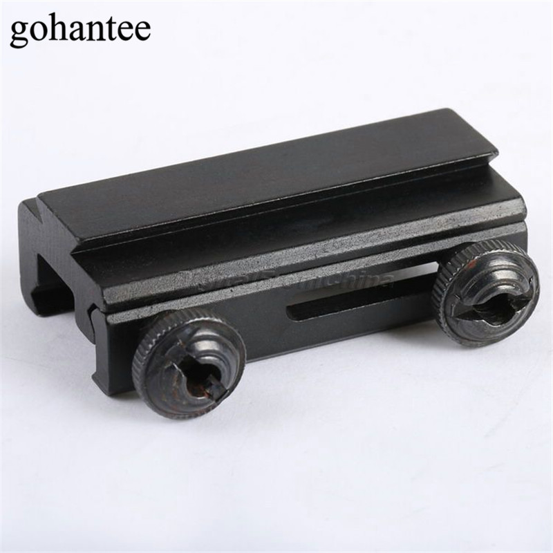 Gohantee 20mm ke 11mm Picatinny Weaver Adapter 11mm Pas Rail Ekstensi Weaver Lingkup Mount Basis Adapter Berburu lingkup Mount