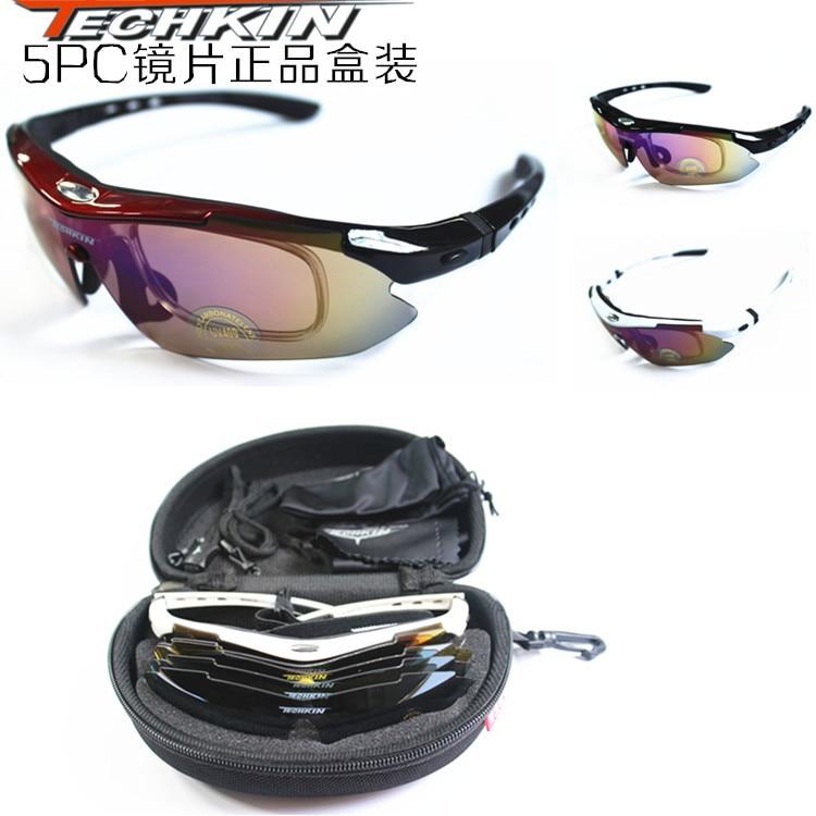 Usine production30501TK TECHKIN0089 vélo équitation vélo lunettes lunettes de soleil myopie (0089-TK5PC + 1 polarisé)