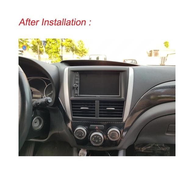 Double Din Car Radio Fascia for Subaru Forester 2008-2012 Impreza 2007-2012 Stereo Panel Dash CD Trim Installation Kit Frame