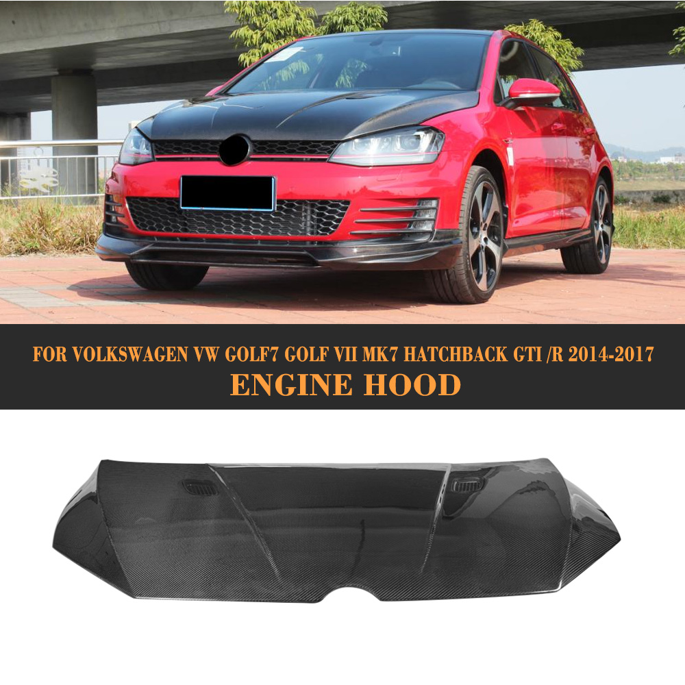 Compare prices on carbon fiber hood online shoppingbuy low price carbon fiber r style front engine hood bonnet trunk cover for volkswagen vw golf7 golf vii vanachro Gallery