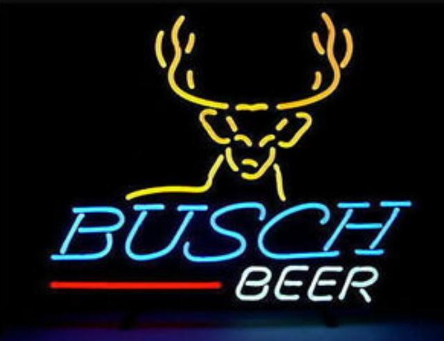 Custom Busch B  Neon Light Sign Beer Bar