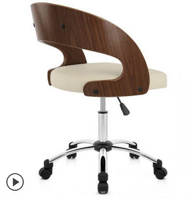 Home office chair. The student chair. Chair. Solid wood boss chair plastic dining chair can be stacked the home is back chair negotiate chair hotel office chair