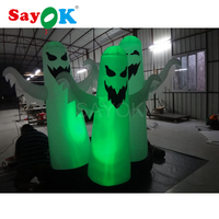 Popular Sale Inflatable Halloween Decoration With Led Light Inflatable LED Ghost Cheap White Oxford Cloth For