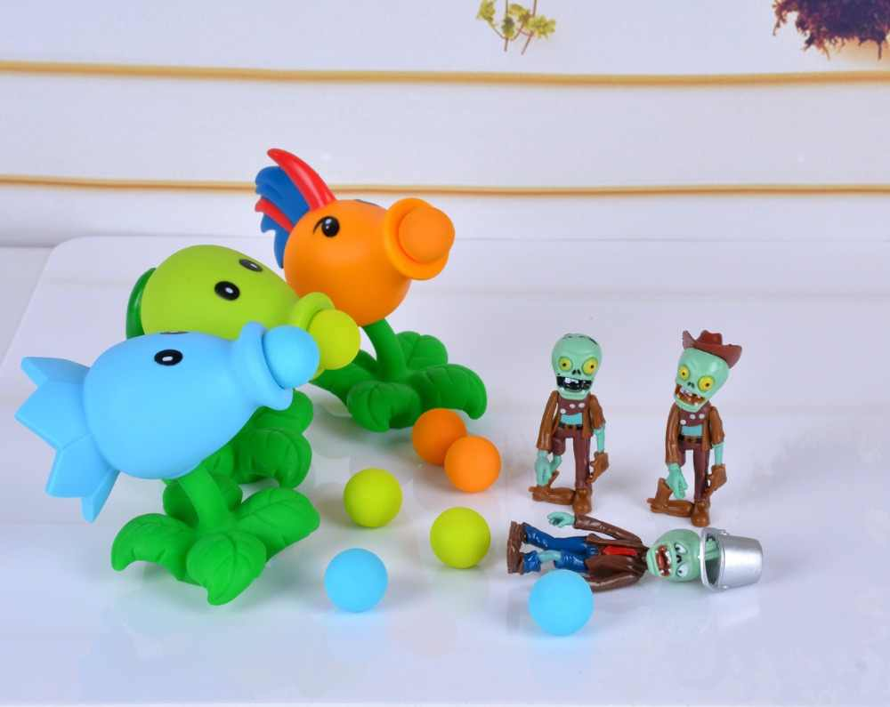 26 stijlen Nieuwe Populaire Game PVZ Plants vs Zombies Peashooter PVC Action Figure Model Speelgoed 10CM Plants Vs Zombies speelgoed