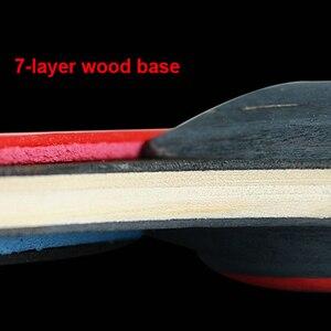 Image 2 - 1 paire Huieson raquettes de Tennis de Table lame en caoutchouc professionnel carbone ping pong batte longs picots porte plume pagaie avec sac 3 balles