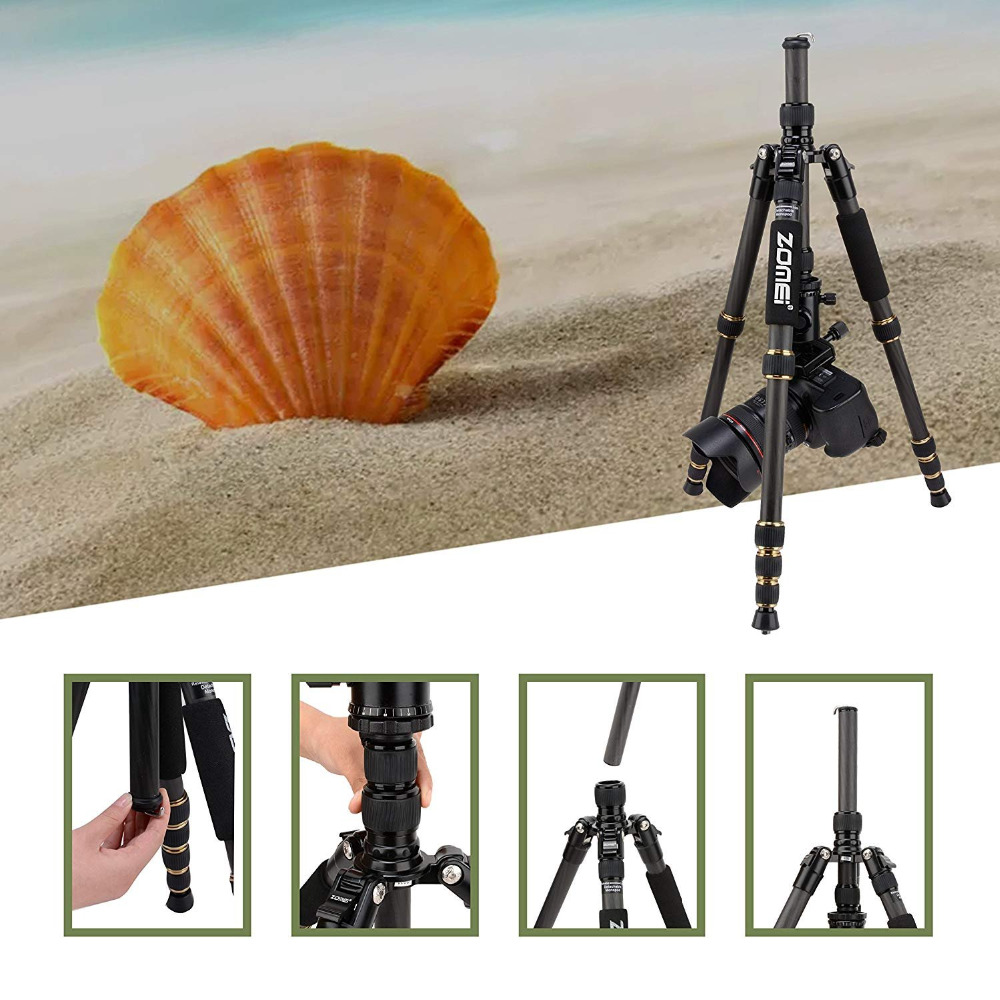 ZOMEI Z699C/Z669C Professional Tripod Monopod Portable Travel Camera Stand with Ball Head Carry Bag for SLR DSLR Digital Camera