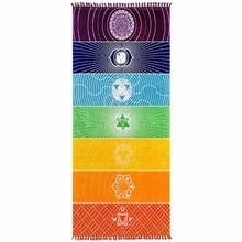 Chakra Rainbow Indian Mandala Blanket