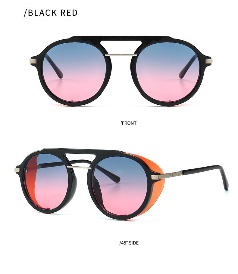 Vintage Oval Round Punk Sunglasses Women 2019 Fashion Gradient Sun Glasses Shades for Woman Men Eyewear UV400 in Women 39 s Sunglasses from Apparel Accessories