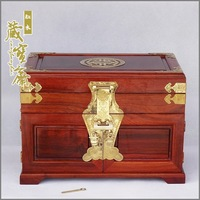Large Mahogany Jewelry Box Jewelry Box Red Sandalwood Married With Mirror Jewelry Cabinet Drawer Gift Tongsuo