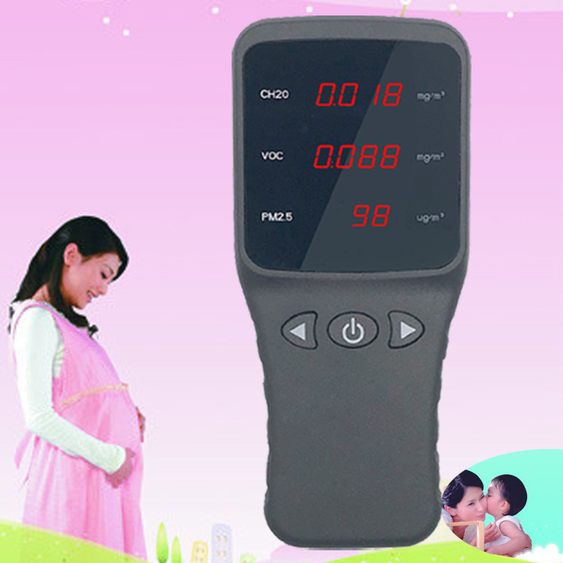 DZ6801 air quality tester PM2.5 Detector Particle Dust Air Quality Meter digital Air Analyzer whit formaldehyde PM2.5 PM10 free shipping pm2 5 detector particle monitor professional dust air quality monitoring suitable elegant pollution meter