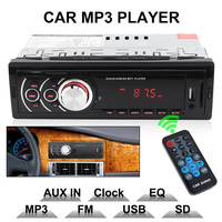 In Dash 1 DIN LED Display Auto Car Radio Stereo Audio Player FM Aux Input Receiver Support MMC SD USB MP3 WMA