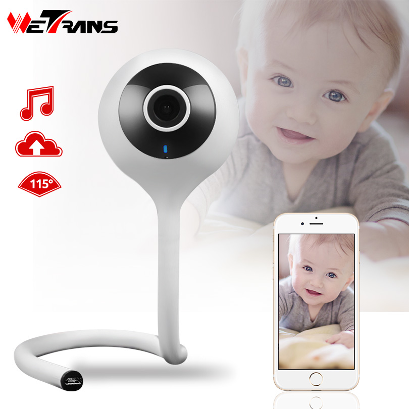 Wetrans WiFi IP Camera Baby Monitor HD 720P P2P Smart Wireless Mini Camera Wi-Fi Home Security Storage Music Alarm Night Vision wetrans wireless camera ip wi fi light bulb hd 3mp led security smart cctv camera panoramic wi fi alarm p2p audio night vision