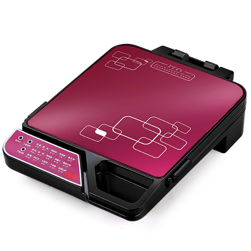 Multi-function <font><b>Electric</b></font> <font><b>Baking</b></font> <font><b>Pan</b></font> Ultra-thin Square Household Griddle Automatic Non-Sticked Hot Grill Pizza Machine DLD-002 image