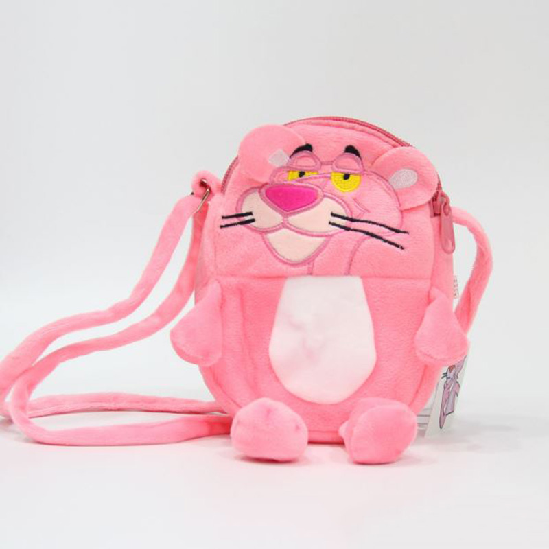 93944f27b194 ⊱1 Pc Cute Pink Panther Plush Backpack Cartoon Animal Pink Leopard ...