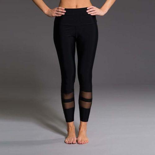 Mesh Patchwork Pant Strech Leggings Women Fitness Legging Stretchy Pants High Waist Skinny Trousers US 2019