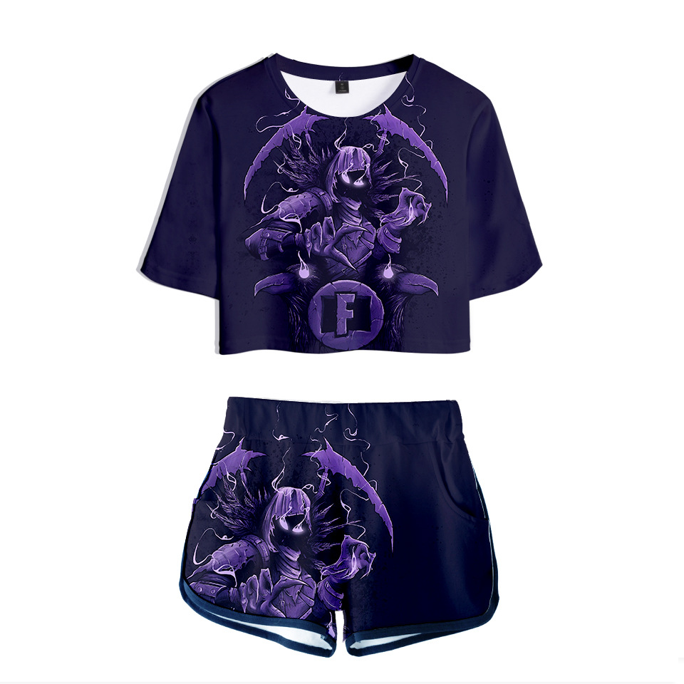 Hero Game Women Outfits Two Piece Set Women Outfit 3D T Shirt Women 39 s Suit Shorts Summer Top Ensemble Femme Tracksuit Women in Women 39 s Sets from Women 39 s Clothing