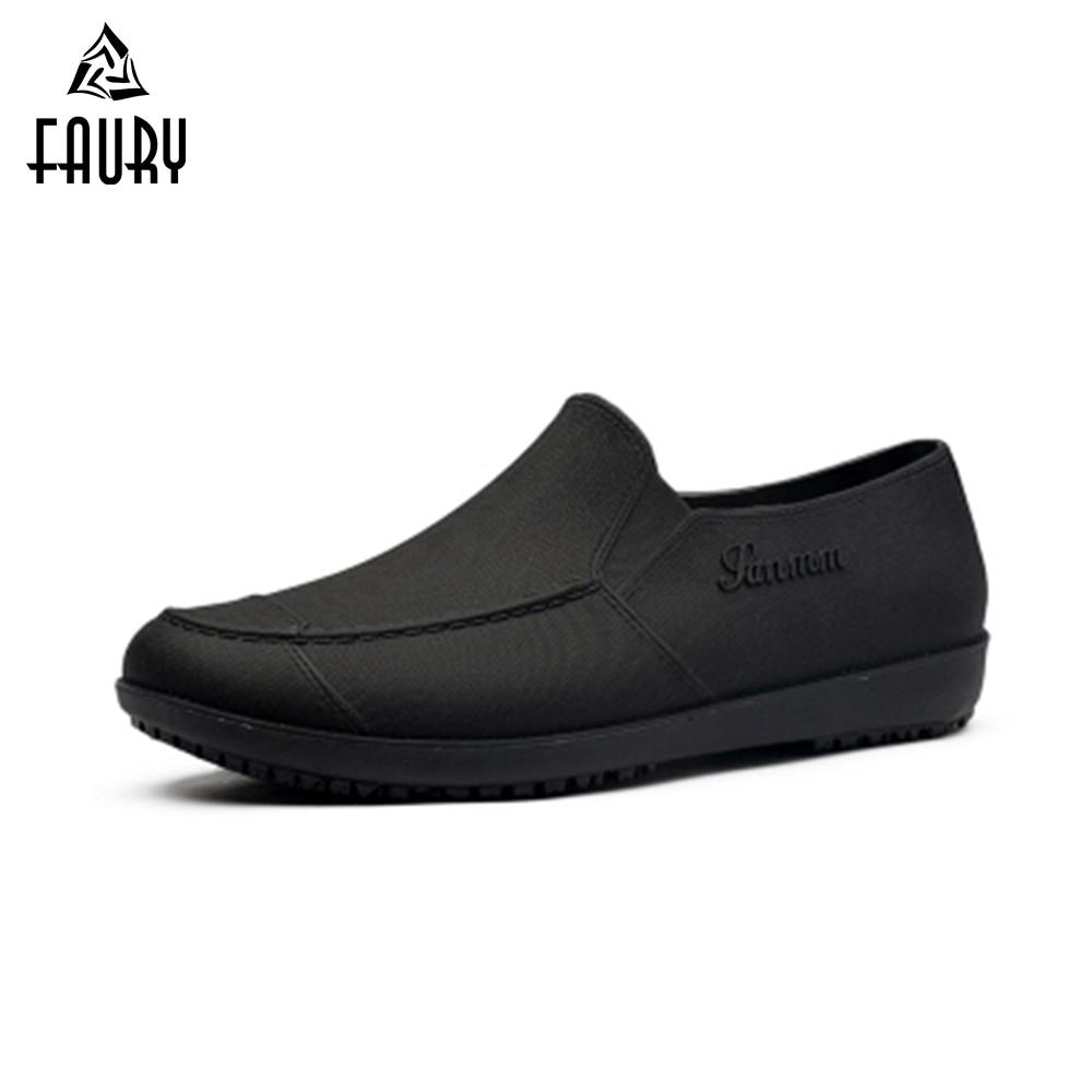 Kitchen Work Shoes: Men's Chef Kitchen Work Shoes Breathable Non Slip Anti Oil