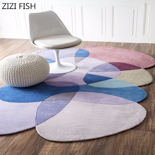 Irregular living room coffee table bedroom acrylic pure handmade custom carpets carpets for living room rug rugs for bedroom-in Carpet from Home & Garden    1