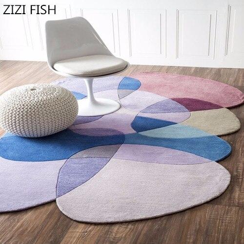 Tapis faits sur commande faits sur commande acryliques purs de chambre à coucher de table basse irrégulière de salon pour des tapis de tapis de salon pour la chambre à coucher